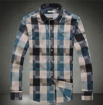 巴宝莉burberry新款男装长袖衬衫暗格子光丝棉男士长袖马赛克衬衣 价格:178.00
