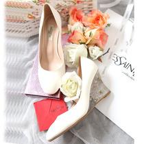 欧洲站华伦天奴新款铆钉鞋圆头水钻透明水晶坡跟单鞋女高跟鞋子 价格:188.00