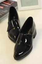 欧美英伦风女单鞋 漆皮方跟鞋低跟单鞋休闲女鞋潮鞋 价格:98.00