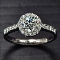 代购tiffany1克拉钻戒 印记pt950镀铂金EVO钻石女戒指女专柜可比 价格:358.80