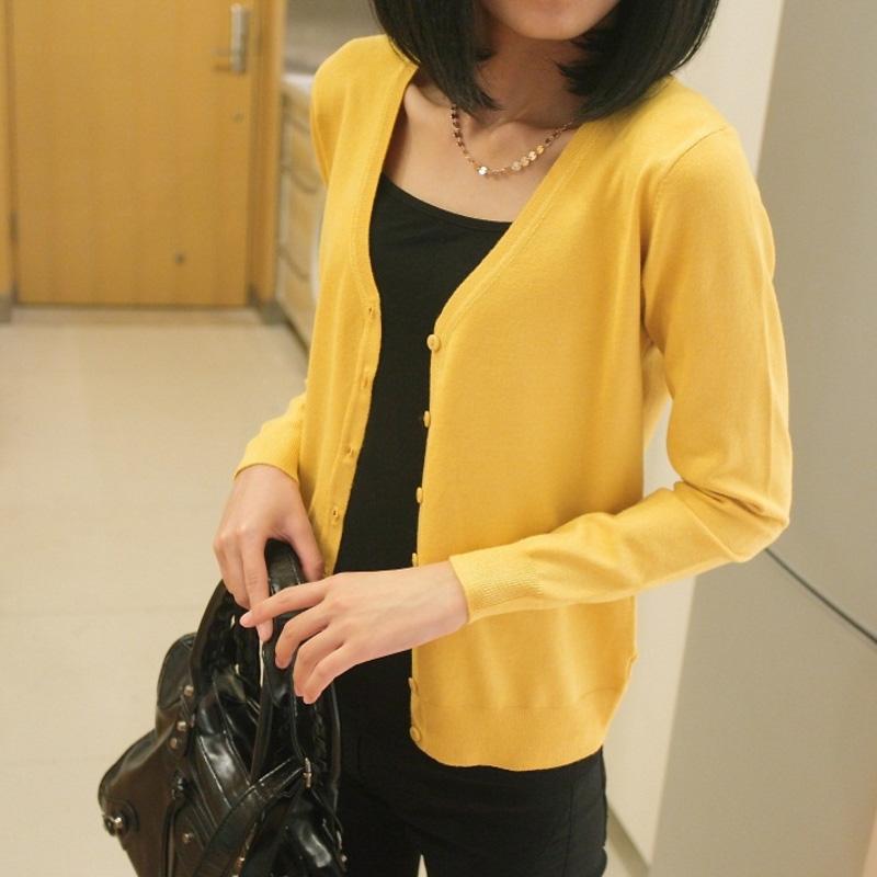 素年简衣2013秋装女装新款毛衣V领长袖针织衫女开衫薄百搭小外套 价格:68.00