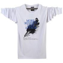 新款男T恤长袖圆领t恤外贸加大码个性男装体恤打底衫男士韩版休闲 价格:38.00