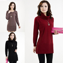 恒源祥正品  秋装新款中老年女装 显瘦中长羊绒毛衣针织衫打底衫 价格:59.00