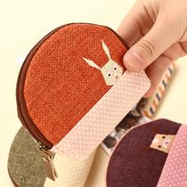 新款香草庄园棉麻女士迷你手拿小包硬币收纳包卡包零钱包儿童小包 价格:12.00