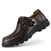 包邮 骆驼男鞋2013新款真皮英伦潮鞋商务日常休闲皮鞋46 47大码鞋 价格:158.00