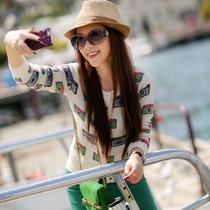 天使之城 2013秋装新品 长袖提花针织外套 针织衫女款 开衫YH1421 价格:169.00