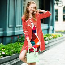 天使之城 2013新款秋装女装风衣 配腰带修身 中长款外套 62130389 价格:319.00