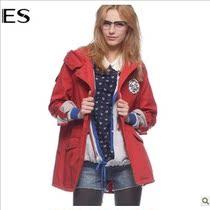 艾格ES专柜正品2013秋款风衣休闲中长连帽外套女新韩版130334066 价格:290.00