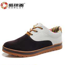 诺尔盖秋季板鞋潮流行男士休闲鞋英伦潮鞋运动韩版反绒皮鞋男鞋子 价格:149.00