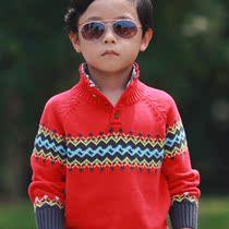 2013新款童装毛衣 儿童毛衣 立领提花全棉童装毛衣套头衫男童毛衣 价格:79.00