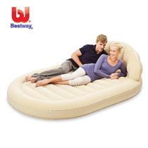 正品Bestway豪华椭圆形植绒靠背充气床垫双人床气垫床大特价包邮 价格:235.00