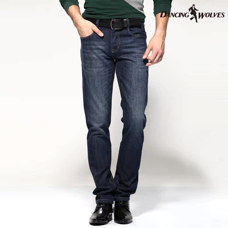 与狼共舞牛仔裤 男士秋装新款 纯棉直筒男裤子 正品男装长裤 4315 价格:179.00