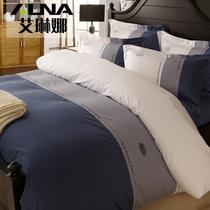 纯棉四件套酒店床上用品 纯色床上四件套 全棉床单被套 家纺特价 价格:358.00