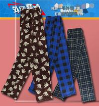 外贸原单 好品质 男款 抓绒 格子 图案 抓绒居家裤 睡裤DH4-P386 价格:19.90