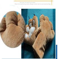 毛绒玩具动物爪子手套冬保暖创意男女式通用可爱魔术手套灰太狼款 价格:33.00