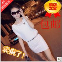 欧洲站夏装新款夜店性感女装Q2 双C字母 V型露背包臀雪纺连衣裙 价格:48.00
