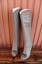 专柜3000+ 欧洲站2013秋新款 靴子冬 女 长靴 皮毛一体羊毛靴高跟 价格:338.00