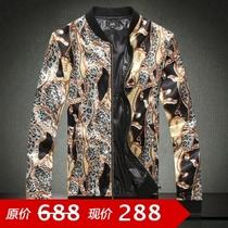 男装韩版男士休闲外套 修身短款立领夹克 男 潮男富贵奢华夹克男 价格:288.00