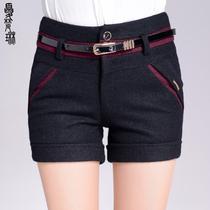 冬天毛呢短裤加厚秋冬女呢子短裤妮子短裤2013新款显瘦靴裤时尚胖 价格:106.00
