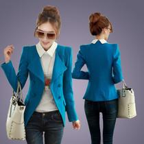 2013秋装新款艾格正品韩版修身双排扣中长羊绒毛呢外套女小西装 价格:168.00