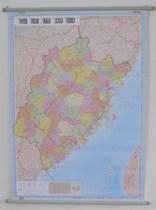 福建省地图挂图公路里程 福建政区图 0.8x1.1米 2013新防水送贴纸 价格:23.40