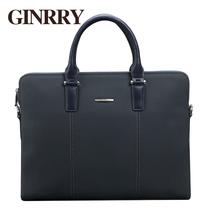 GINRRY 2013新款 男士手提包 牛皮电脑包 商务公文包男包G13760 价格:399.00