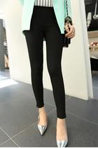 2013秋季新款显瘦纯色小脚打底裤韩版可外穿弹力铅笔女装裤加大码 价格:49.00