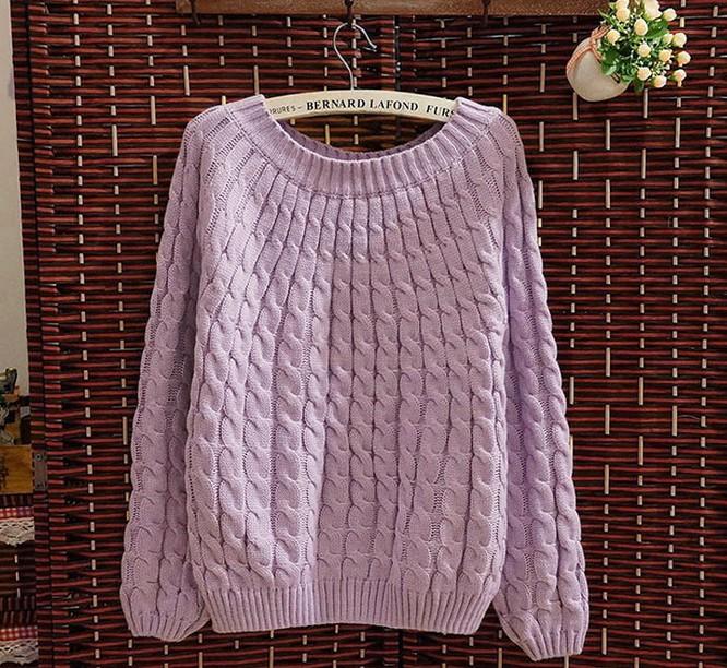 【满意淘】秋季新款女装毛衣外套女加厚韩版套头宽松显瘦毛衣外套 价格:28.00