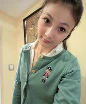2013秋季新款大嘴猴专柜正品代购 纯色刺绣圆领 上衣外套开衫 女 价格:169.00