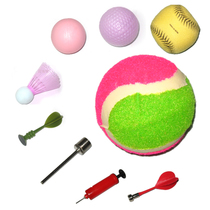 配套产品 飞镖 羽毛球 高尔夫球 魔术球 儿童专用粘球 大童粘粑球 价格:1.00