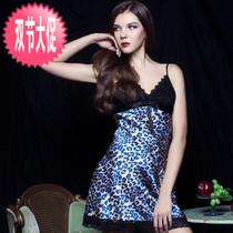 高档正品牌 欧美流行豹纹真丝睡衣 桑蚕丝女士性感可爱睡裙吊带裙 价格:926.50