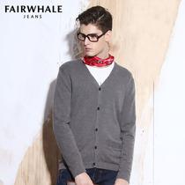 减后307!马克华菲2013男装秋装新款男式绅士纯色针织开衫 棉毛衣 价格:357.00