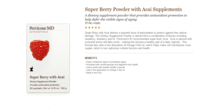 PerriconeMD裴礼康SuperBerrySupplements巴西莓抗氧化果饮30pac 价格:390.00
