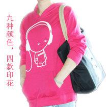 【天天特价】新品 自主品牌 大号 多色 可爱印花 套头卫衣 带帽 价格:49.90