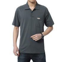 新款中年男士短袖T恤中老年男装短袖翻领纯棉T恤冠之龙加大爸爸装 价格:45.00