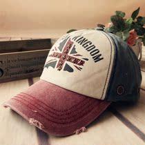 水洗牛仔布棒球帽 米字旗五角星铆钉撞色全棉做旧男女鸭舌帽子 价格:18.00