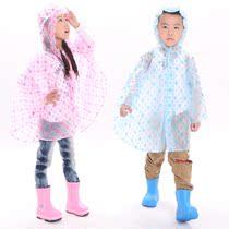 韩国时尚儿童雨衣宝宝雨衣雨披 男童女童糖果色圆点斗篷式披风 价格:29.00