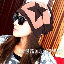 五角星头巾帽堆堆帽子男女嘻哈帽秋冬天款韩版包头帽套头帽秋帽 价格:21.98