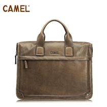 camel骆驼皮具 头层牛皮 手提包 男包斜跨男包 单肩包MB060007-05 价格:668.00