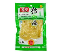 重庆特产有友泡椒猪皮晶野山椒味90g克休闲零食猪肉制品促销特价 价格:3.99