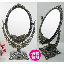 R05006彩妆化妆品美容工具 欧式公主双面台式化妆镜子特价满包邮 价格:12.00