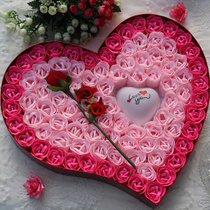 香皂花玫瑰礼盒 100朵香皂花卡通花束批发教师节生日礼物包邮 价格:28.00