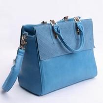 2013新款真皮牛皮女包特价复古潮包手提单肩斜挎包蓝色女士包包邮 价格:99.72