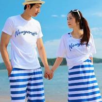 情侣装韩国夏装女裙子一套全套沙滩夏天整套欧美海边度假情路装 价格:48.00