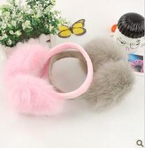 韩版折叠式耳套 创意女 隔音耳罩 睡眠用 毛绒玩具小号批发 价格:6.80