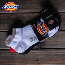 Dickies正品纯色透气时尚运动男士袜子短筒棉袜薄款3双132U90WD29 价格:59.40