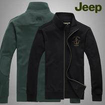 2013秋装jeep吉普专柜正品男装长袖纯棉开衫立领卫衣春秋男士外套 价格:112.00