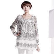 播 青草香味的早晨 2013春装新款圆领长袖气质女装短款连衣裙 价格:599.00