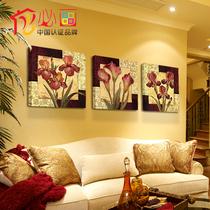 品味艺术环保现代油画结合新品餐厅壁画背景墙挂画装饰画 价格:19.80