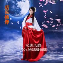 古代女古装唐装汉服演出服影楼摄影服装改良汉服仿曲裾 舞蹈服装 价格:168.00
